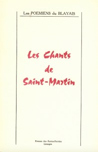LES CHANTS DE SAINT-MARTIN - Couverture