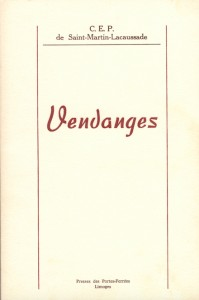 VENDANGES - Couverture